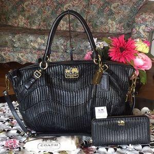 Coach Madison sophia Gathered Leather Bag & wallet